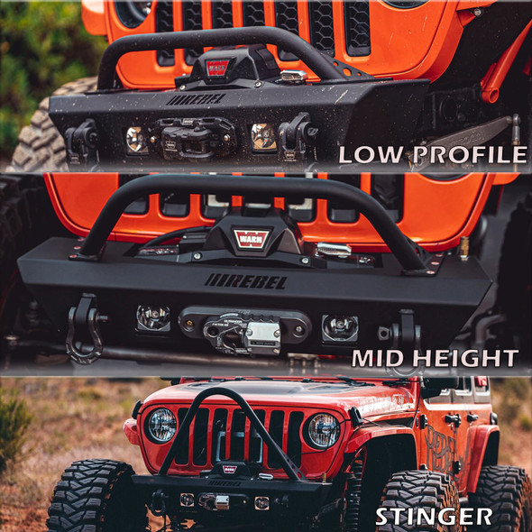 Rebel Off Road Summit Series Front Bumper Hoop