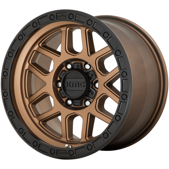 KMC WHEELS KM544 MESA MATTE BRONZE/BLACK LIP