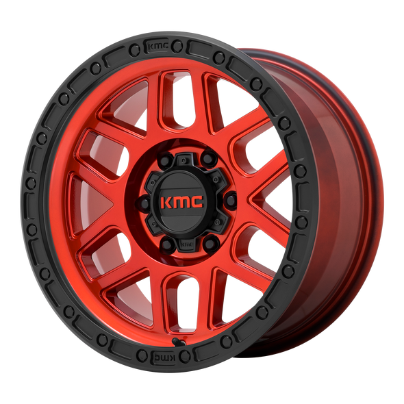 KMC WHEELS KM544 MESA CANDY RED/BLACK LIP