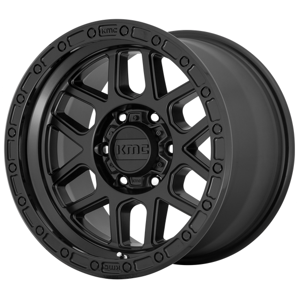 KMC WHEELS KM544 MESA SATIN BLACK/GLOSS BLACK LIP
