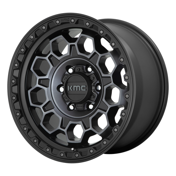 KMC WHEELS KM545 TREK SATIN BLACK/GRAY TINT