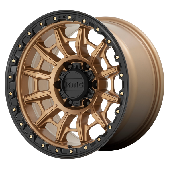 KMC WHEELS KM547 CARNAGE MATTE BRONZE/BLACK LIP