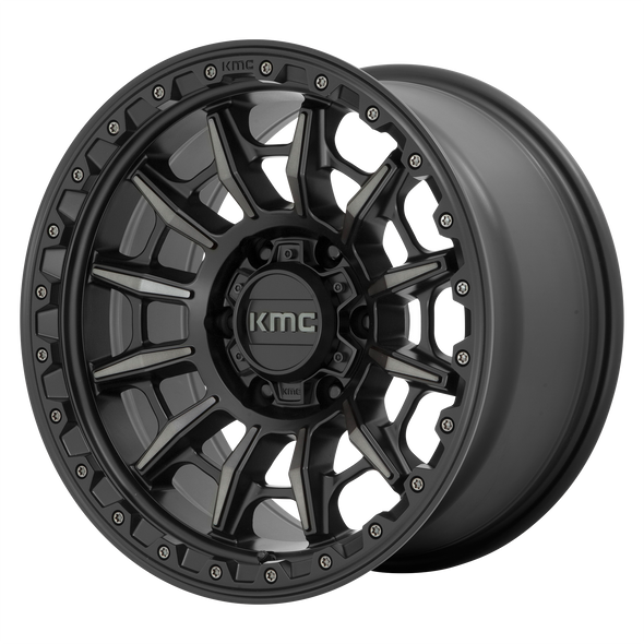 KMC WHEELS KM547 CARNAGE SATIN BLACK/GRAY TINT