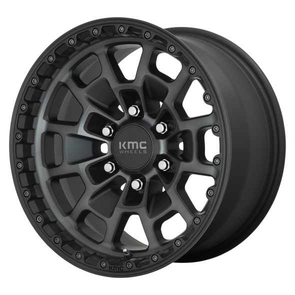 KMC WHEELS KM718 SUMMIT SATIN BLACK/GRAY TINT