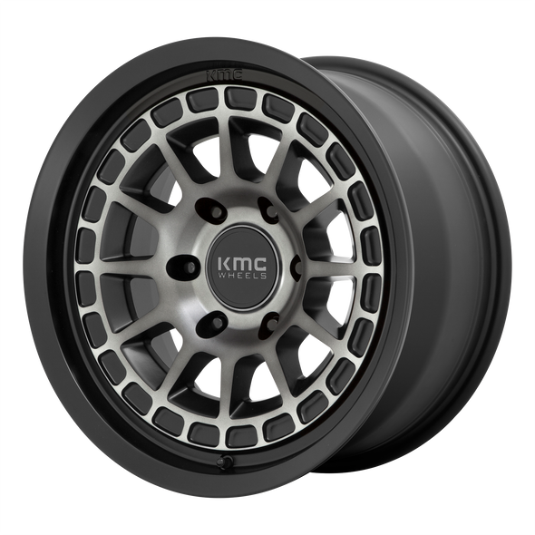 KMC WHEELS KM719 CANYON SATIN BLACK/GRAY TINT