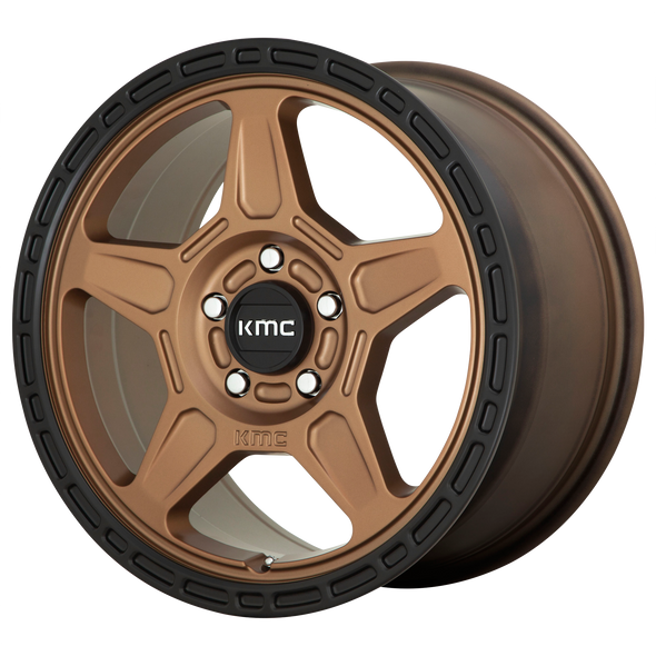 KMC WHEELS KM721 ALPINE MATTE BRONZE/BLACK LIP