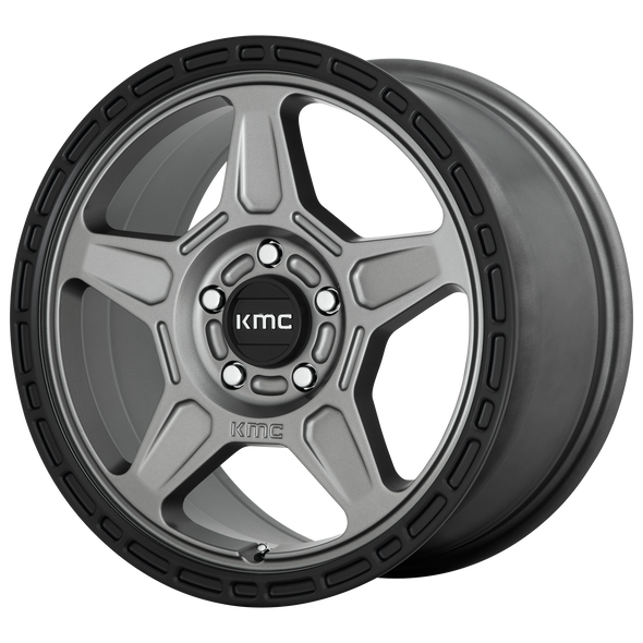 KMC WHEELS KM721 ALPINE SATIN GRAY/BLACK LIP