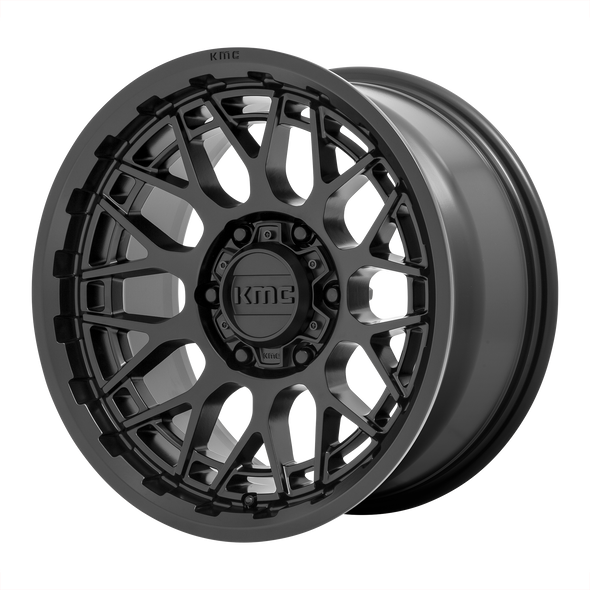 KMC WHEELS KM722 TECHNIC SATIN BLACK