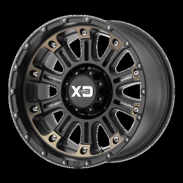 Xd Wheels Xd829 Hoss Ii Satin Black Machined Dark Tint