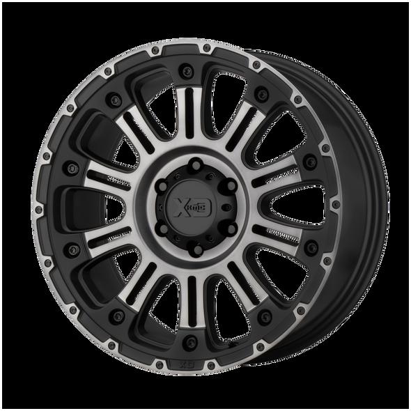 Xd Wheels Xd829 Hoss Ii Satin Black Machined Gray Tint
