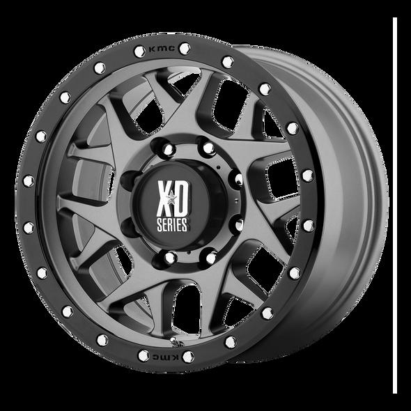 Xd Wheels Xd127 Bully Matte Gray, Black Ring
