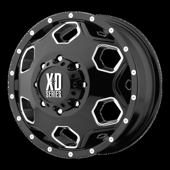 Xd Wheels Xd815 Batallion Gloss Black, Milled Accents
