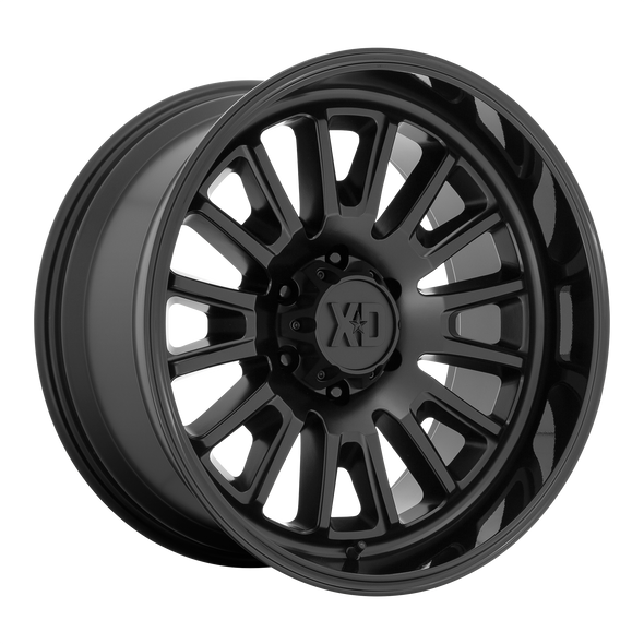 Xd Wheels Xd864 Rover Satin Black, Gloss Black Lip