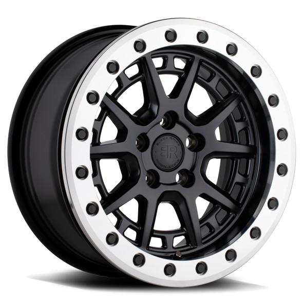 Black Rhino Gravel Matte Black W/ Machined Ring Wheels