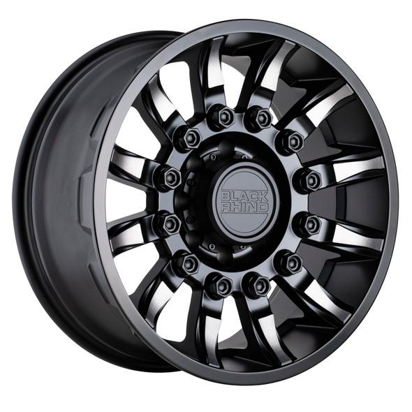 Black Rhino Mission Matte Black W/ Machined Tinted Spokes Wheels