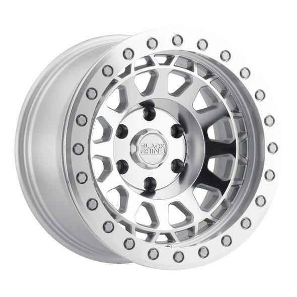 Black Rhino Primm Beadlock- Silver, Mirror Face, Machined Ring Wheels