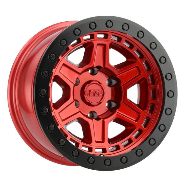 Black Rhino Reno Beadlock- Candy Red, Black Ring Wheels