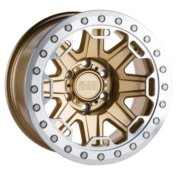 Black Rhino Rift- Beadlock Matte Gold W/ Machined Ring Wheels