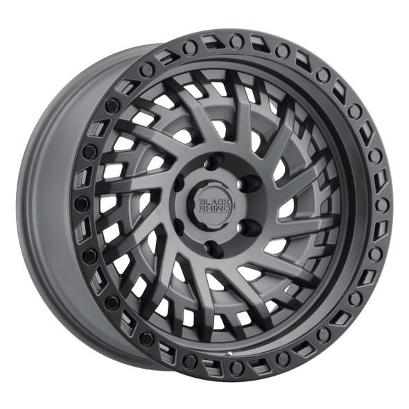 Black Rhino Shredder Matte Gunmetal W/ Black Ring Wheels