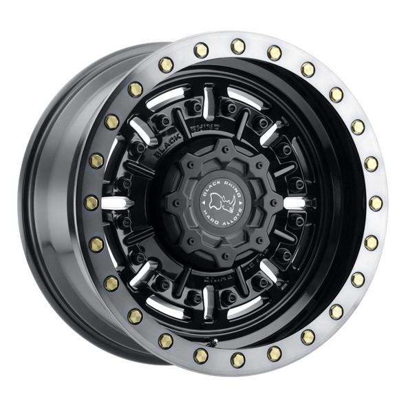 Black Rhino Abrams Gloss Gun Black W/ Machined Dark Tint Wheels