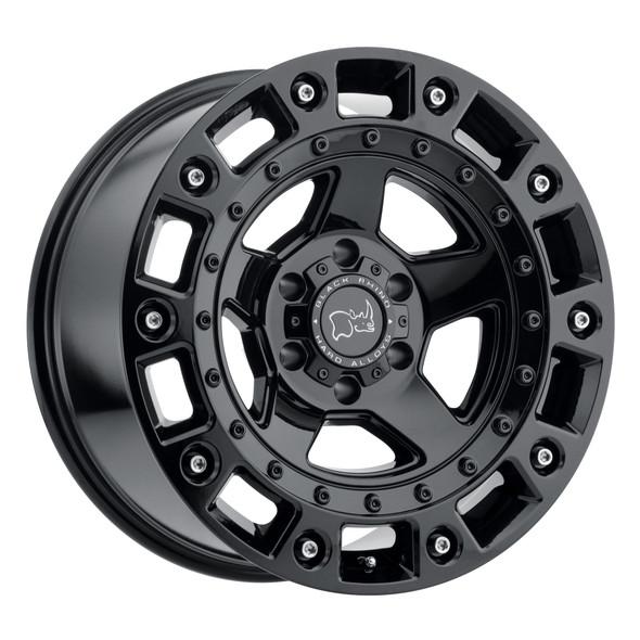 Black Rhino Cinco Gloss Black W/ Stainless Bolt Wheels