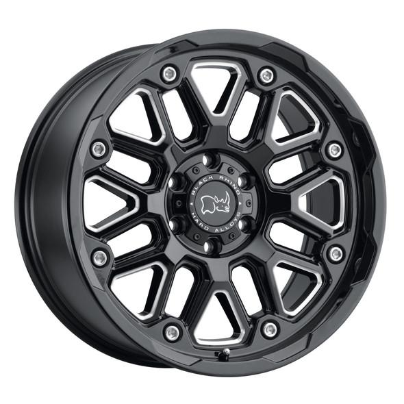 Black Rhino Hollister Gloss Black W/ Milled Spokes Wheels