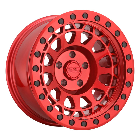 Black Rhino Primm- Candy Red, Black Bolts Wheels