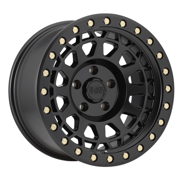 Black Rhino Primm- Matte Black, Brass Bolts Wheels