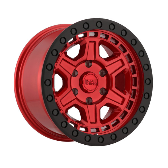 Black Rhino Reno- Candy Red, Black Ring Wheels