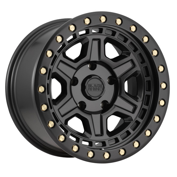 Black Rhino Reno- Matte Black, Brass Bolts Wheels