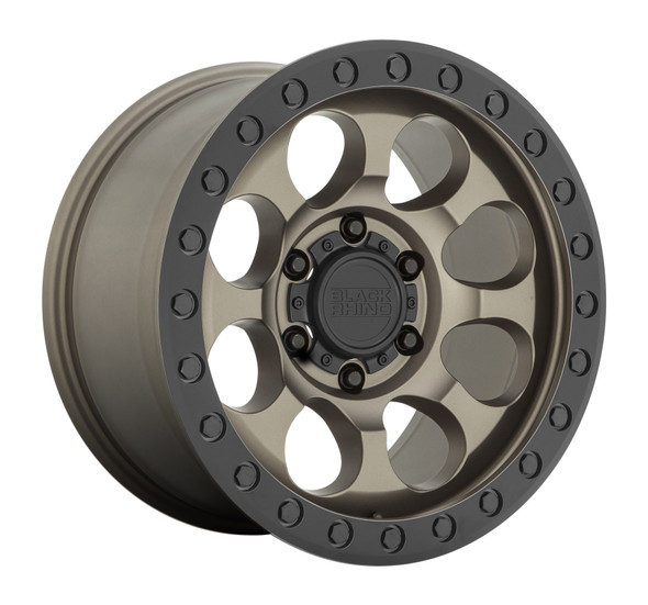 Black Rhino Riot- Matte Bronze, Black Ring Wheels