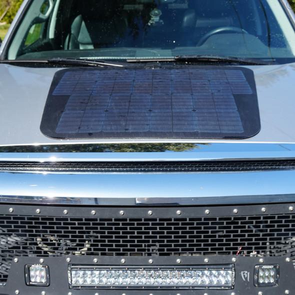 Cascadia 4x4 Toyota Tundra- 90 Watt Hood Solar Panel VSS System