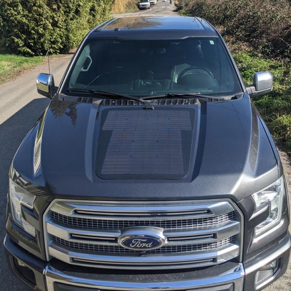Cascadia 4x4 Ford F150- 85 Watt Hood Solar Panel VSS System