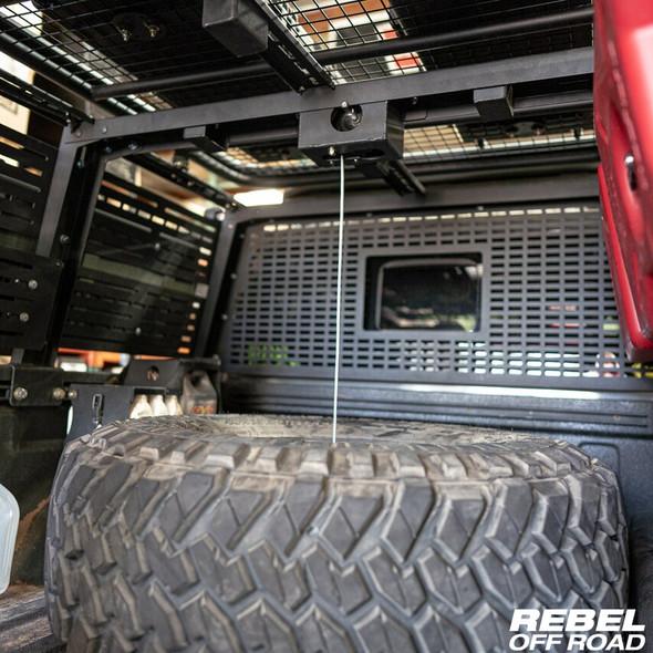 Rebel Off Road XPLOR Bed Rack Tire Mount, Jeep Gladiator
