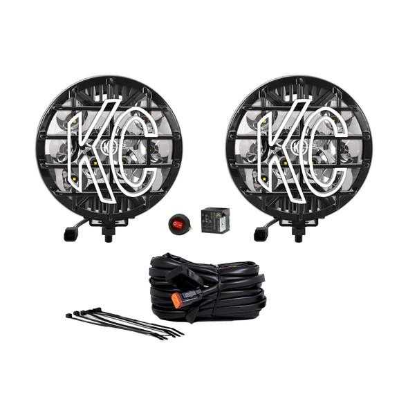 """KC HiLiTES6"""" SlimLite LED - 2-Light System - 50W Spot Beam"""