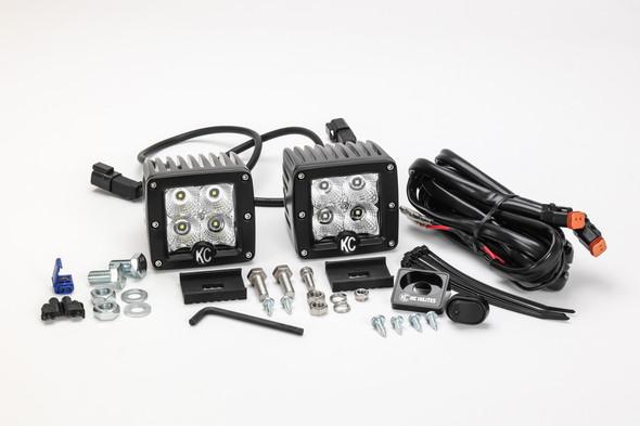 "KC HiLiTES3"" C-Series C3 LED - 2-Light System - 12W Flood Beam"