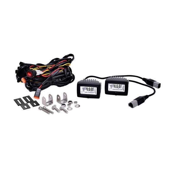 "KC HiLiTES2"" C-Series C2 LED - 2-Light System - Backup - 20W Flood Beam"