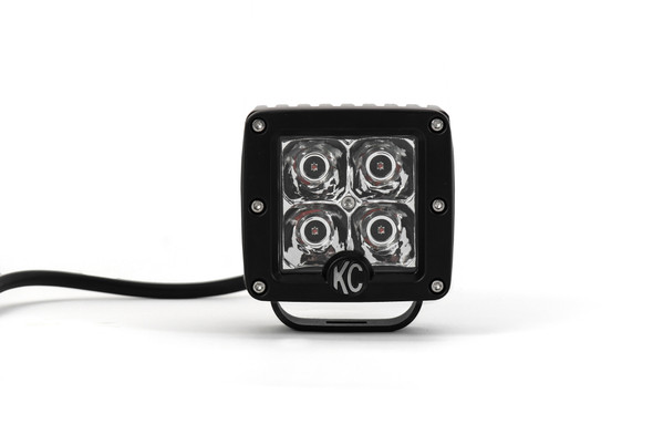 "KC HiLiTES3"" C-Series C3 LED - Single Light - Amber - 12W Spot Beam"