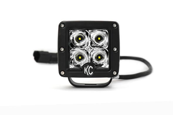 """KC HiLiTES3"""" C-Series C3 LED - Single Light - 12W Spot Beam"""