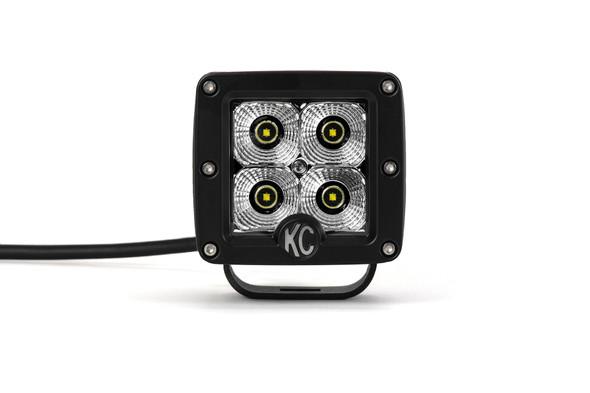"KC HiLiTES3"" C-Series C3 LED - Single Light - 12W Flood Beam"