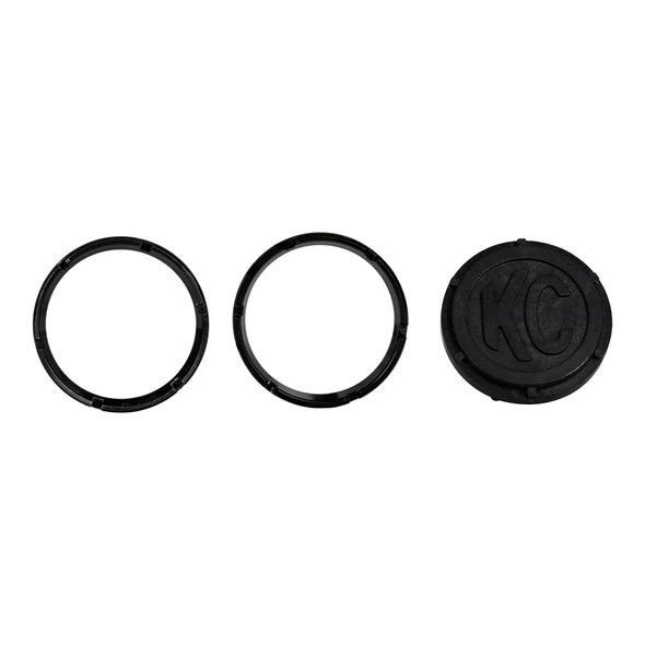 KC HiLiTESKC FLEX™ LED 2-Bezel Rings - ED Coated - Black