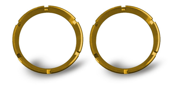 KC HiLiTES FLEX LED 2-Bezel Rings - ED Coated - Gold