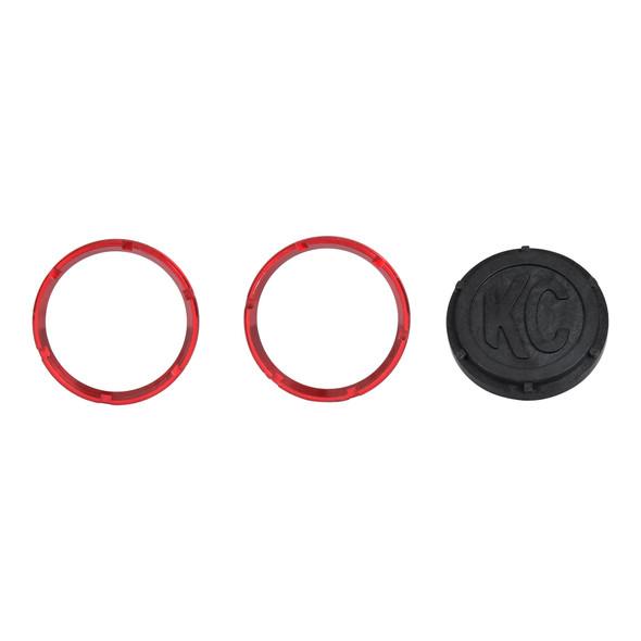 KC HiLiTESKC FLEX™ LED 2-Bezel Rings - ED Coated - Red