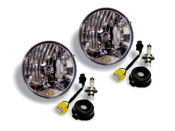 "KC HiLiTES7"" Headlight - H4 Halogen - 2-Lights - 55W / 60W DOT Headlight - for 07-18 Jeep JK"