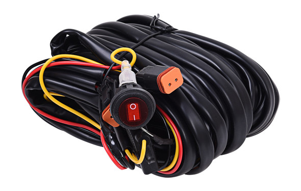 KC HiLiTESWiring Harness for Two Backup Lights with 2-Pin Deutsch Connectors