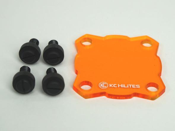 KC HiLiTES KC FLEX LED - Single - Light Shield - Amber