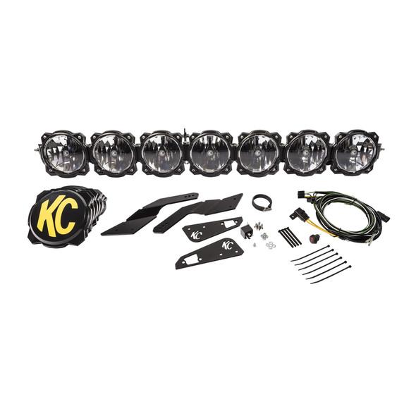 "KC HiLiTES45"" Pro6 Gravity® LED - 7-Light - Light Bar System - 140W Combo Beam - for 17-19 Can-Am Maverick X3"