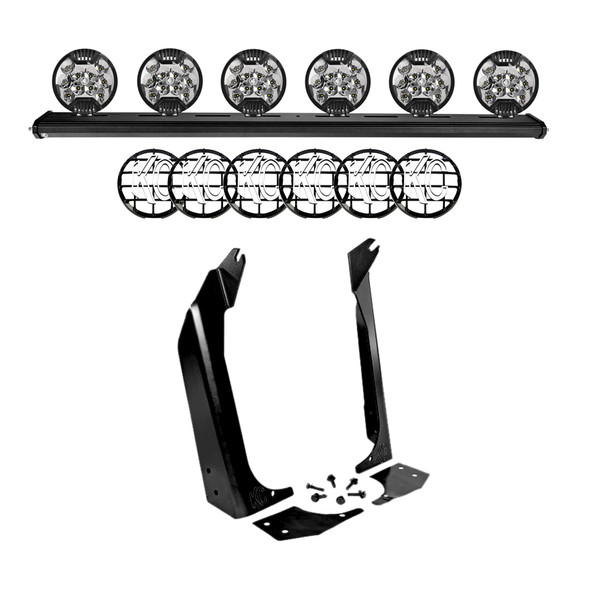 "KC HiLiTES50"" KC Xross Bar - Overhead - SlimLite LED - 6-Light System - 300W Spot Beam - for 97-06 Jeep TJ"
