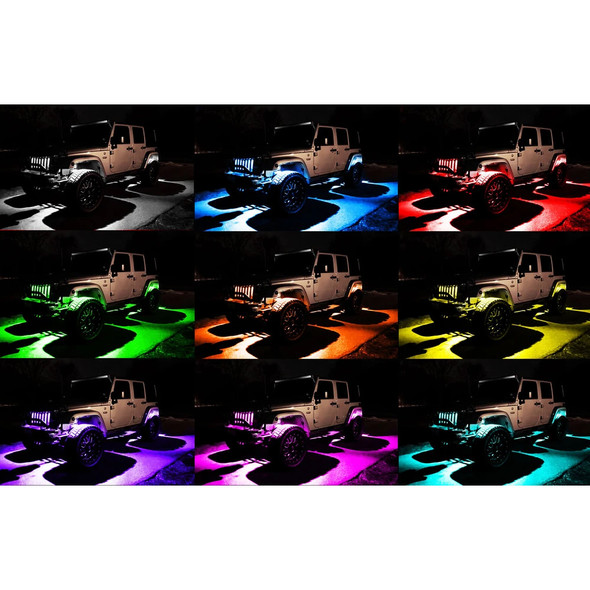 Oracle Underbody Wheel Well Rock Light Kit, ColorSHIFT RGB