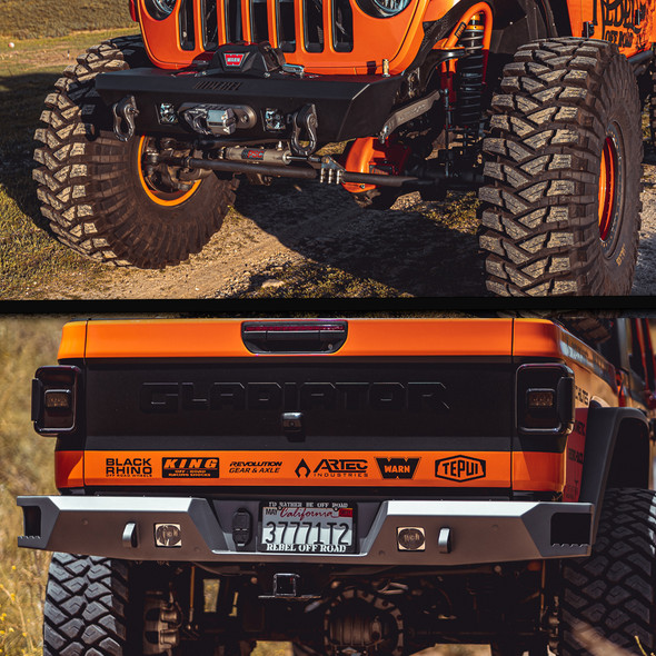 Rebel Off Road Summit Series Front and Rear Bumper, Jeep Gladiator